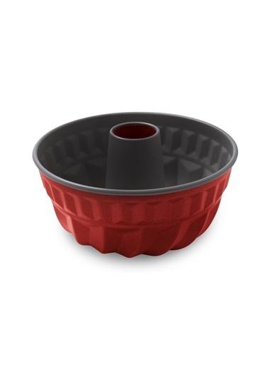 Aryıldız Granit Borulu Kek Kalıbı Kırmızı 22 Cm Renkli